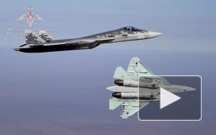 Полеты Су-57 на предельно малых высотах сняли на видео