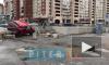 Видео: на перекрестке улиц Савушкина и Туристской одна иномарка перевернула другую