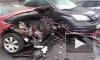 В Петербурге автоледи-недотепа разбила пять машин