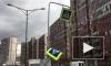 Шквалистый ветер снес дорожные знаки на Венской