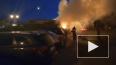 На улице Ленсовета ночью горел грузовик