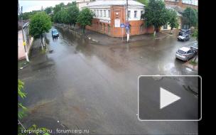 Драка после ДТП в Серпухове.