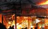 Пожар на Северном рынке в Петербурге уничтожил павильон с товарами