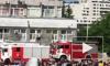 Появилось видео с места пожара в РУДН в Москве