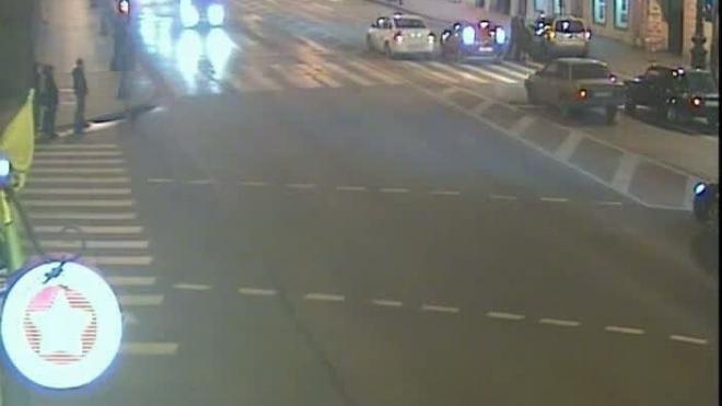 Наезд на пешехода на Невском проспекте