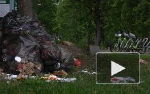 Петербуржцы недовольны мусором на набережной реки Карповки