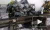 На Киевском шоссе из-за ДТП сгорел автомобиль с мужчиной внутри