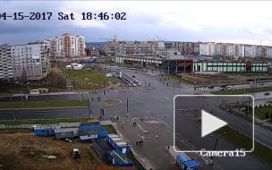 Жёсткое ДТП Витебск перекрёсток Чкалова и Воинов Интернационалистов.