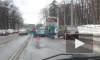 Легковушка врезалась в автобус на 2-ом Муринском проспекте