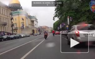 Появилось видео эпичной погони ГИБДД за мотоциклистом на Дне города