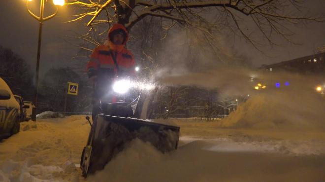 Видео: ежедневно с улиц Выборга вывозится более 2000 кубометров снега