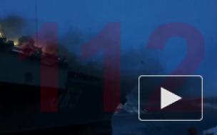 """Площадь пожара на """"Адмирале Кузнецове"""" выросла до 600 кв. м"""