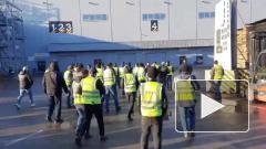 "Водители ""Петровича"" вышли на забастовку на Таллинском шоссе"
