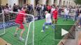 На Невском проспекте прошло футбольное сражение