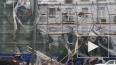 В Петербурге на Стачек обрушились строительные леса