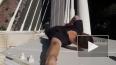Видео: в Сочи руфер повис на 86-метровом мосте