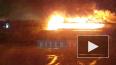 Пожар на теплоходе на Нагатинской набережной в Москве ...