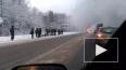 Видео: На трассе Вологда – Череповец горел школьный ...
