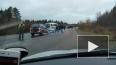 На границе с Финляндией столкнулись 4 автомобиля