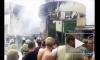 Страшный пожар на Центральном рынке в Ростове попал на видео