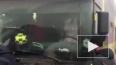 В Волгоградской области загорелся автобус с пассажирами