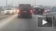 Скорая попала в ДТП на мосту Александра Невского