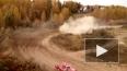 Появилось видео ралли в Омске, где автомобиль на огромно...