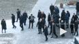 Путина встретили с оркестром на торжественном открытии ...