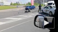 Таксист сбил мотоциклиста на Комендантском