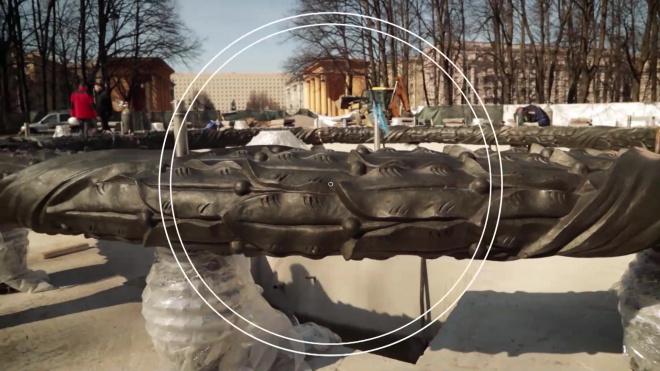 """""""Водоканал"""" показал процесс реконструкции фонтана """"Слава"""" в парке Победы"""
