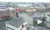 Видео: руферы установили триколор на крыше Московского вокзала