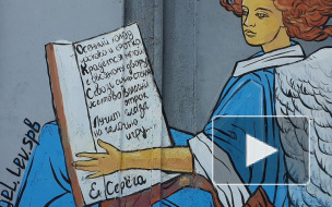 В Петербурге нарисовали стрит-арт с ангелом-хранителем