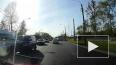 Конфликт водителей на Петергофском шоссе попал на видео
