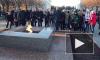 На Пискаревском кладбище вновь зажгли Вечный огонь