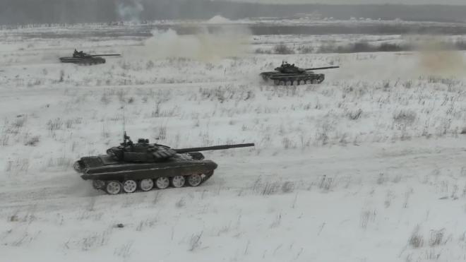 Опубликовано видео стрельбы танков Т-72б3 в Нижегородской области