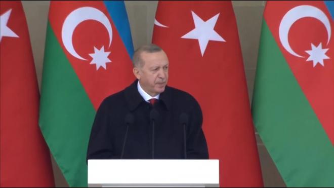 """Эрдоган на параде в Баку посоветовал Армении """"взяться за ум"""""""