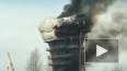 Появилось видео адского пожара на опоре ЗСД в Петербурге