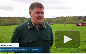 Валентин Петров, Директор Северо-Западного лесничества на пожарных учениях