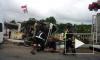 ДТП в Колтушах: бетономешалка снесла светофор и опрокинулась