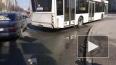 На проспекте Космонавтов иномарка врезалась в автобус