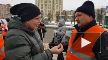 Николай Бондаренко лично убирал наледь на Гражданском ...