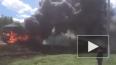 Жуткое видео из Татарстана: на трассе дотла сгорела фура