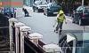 Появилось видео, как уличный пес спас женщину от грабителя