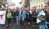 Марш питерской оппозиции возглавили националисты