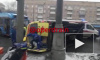 В Москве на Варшавском шоссе в ДТП перевернулся реанимоболь