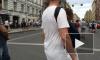 В центре Петербурга собралась девятибалльная пробка из-за пешеходов