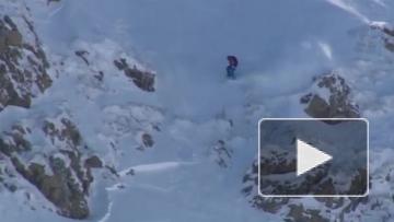 Российский лыжник опубликовал видео своего падения со скалы