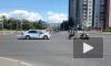 Видео: в Петербурге произошло ДТП с участием мотоциклиста