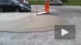 На парковке в Приморском районе из-под земли хлынул ...