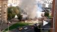 Появилось видео пожара на месте сноса самостроя возле ...